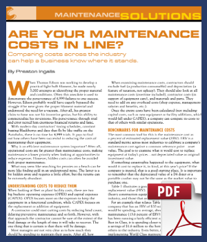 Are your maintenance costs in line