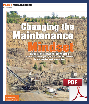 Changing the Maintenance Mindset