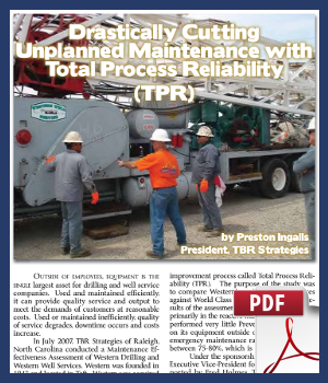 Drastically cutting unplanned maintenance with Total Process Reliability TPR