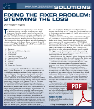 Fixing the fixer problem - stemming the loss