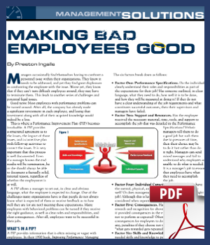 Making Bad Employees Good