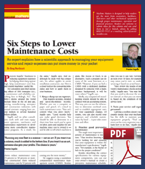 Six steps to lower maintenance costs