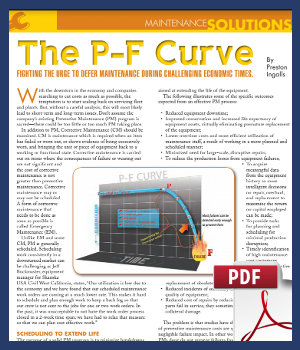 The P-F Curve - Fighting the urge to offer maintenance during challenging economic times