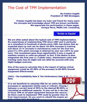 The cost of TPM Implementation