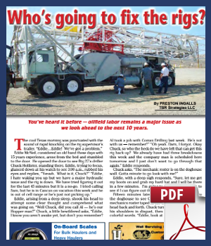 Who's going to fix the rigs?