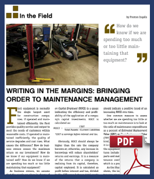 Writing in the margins - bringing order to maintenance management