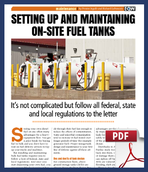 setting up and maintaining on-site fuel tanks