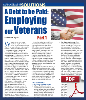 A debt to be paid - employing our veterans