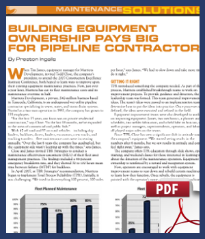 Building Equipment Ownership Pays Big for Pipeline Contractors