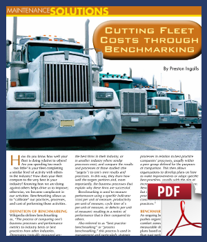 Cutting fleet costs through benchmarking