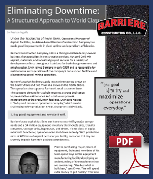 Eliminating Downtime- A Structured Approach to World Class - Barriere