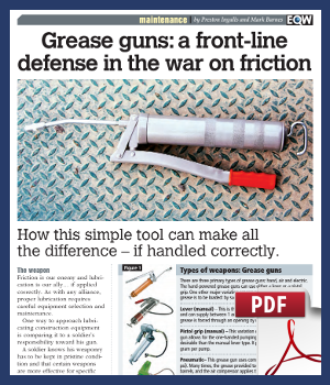 Grease guns - a front line defense in the war on friction