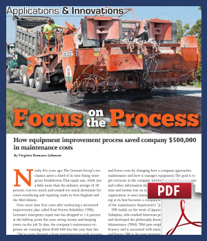 How equipment improvement process saved company $500000 in maintenance costs