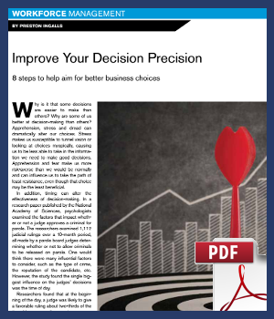 Improve your decision precision - 8 steps to help aim for better business choices