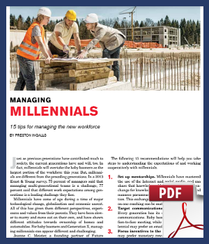 Managing Millennials - 15 tips for manaing the new workforce