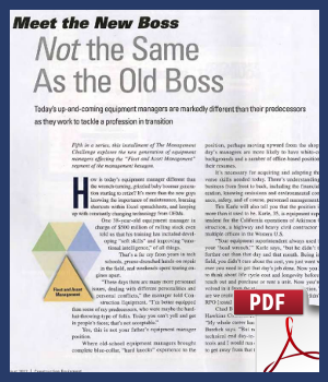 Meet the new boss - not the same as the old boss