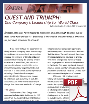 One Company's Leadership for World Class