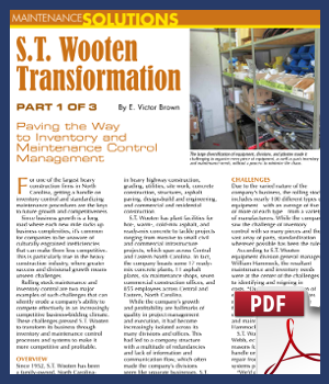 Paving the Way to Inventory and Maintenance Control Management