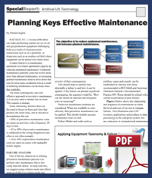 Planning keys effective maintenance