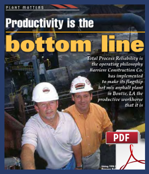 Productivity is the Bottom Line -Barrierre