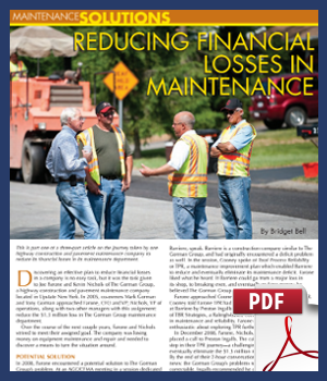 Reducing Financial Losses in Maintenance
