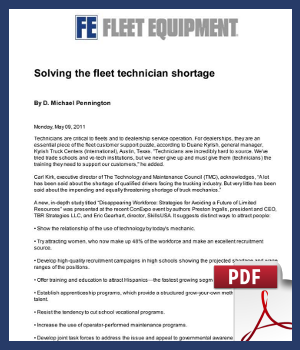Solving the fleet technician shortage
