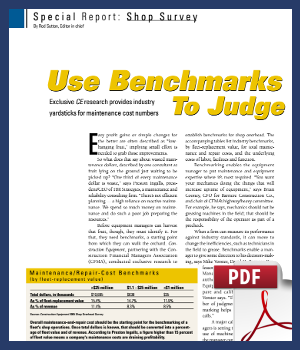Use benchmarks to judge