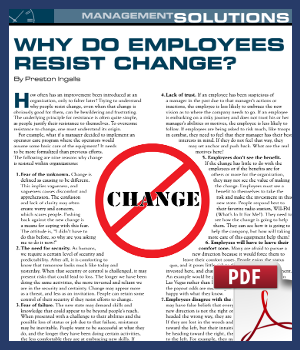 Why do employees resist change