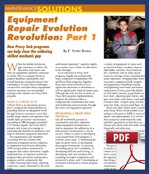 Equipment Repair Evolution Revolution Part 1