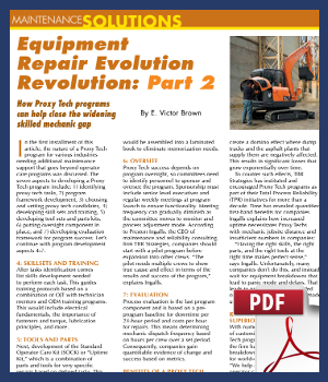 Equipment Repair Evolution Revolution Part 2