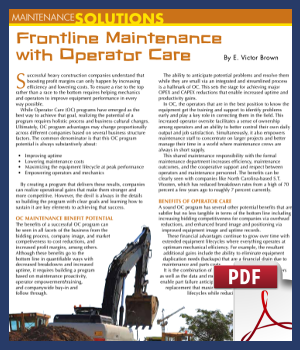 Frontline Maintenance with Operator Care